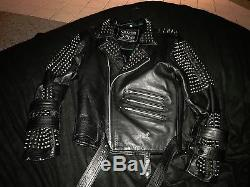 Mens / unisex KILLSTAR Spiked leather motorcyle jacket punk