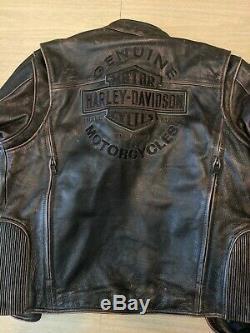 Mens used harley davidson leather jacket large