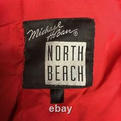 Michael Hoban North Beach Leather Vintage REd Leather Jacket and Shorts Flame