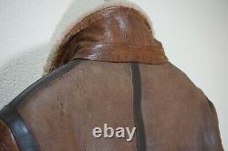 Mint $3995 Belstaff Shearling 50 Large Biker Leather Jacket Brown Danescroft