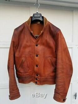 Mister Freedom Campus Leather Jacket XL 44 Amazing Patina Motorcycle Biker