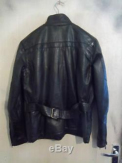 Modern Belstaff Leather Motorcycle Jacket Size L