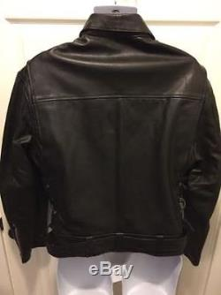 Molltan Authentic Leather Motorcycle Jacket Gently Used Waistbelt Size 40R