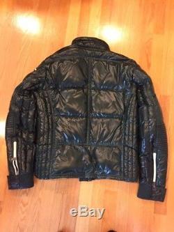 Moncler authentic mens Berriat moto jacket- dark green size 3 (M)