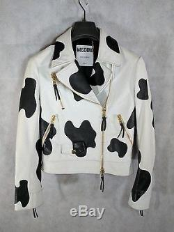 Moschino Couture Cow Leather Biker Jacket Sold Out $4595