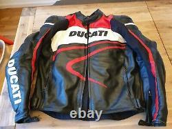 Motorradjacke Ducati Gr 52 L schwere Qualität Leder