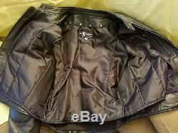 Mr S. Leather Cafe Racer Leather motorcycle Jacket with liner like new size 44