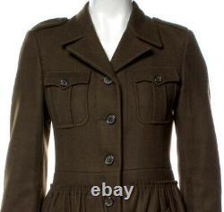 NWT $4,100 PRADA Miu Miu Real Fur Collar COAT 40 42 44 4 6 8 Jacket GIFT BAG S M