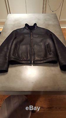 Neil Barrett Black Shearling leather Motorcycle Jacket