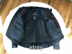 No Reserve Alpinestars Perforated Black Leather Jacket with Back & Chest Armor