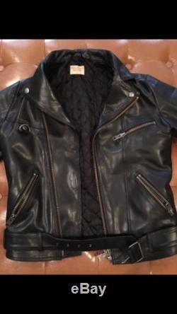 Nudie Jeans Ziggy Leather Biker Jacket, Size Small
