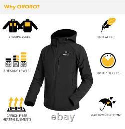 ORORO Women Cordless Heated Jacket Kit Winter Outdoor Qulited Powered Coats