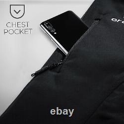 ORORO Womens Heated Jacket Full Zipper Winter Outdoor Black Heated Overcoats