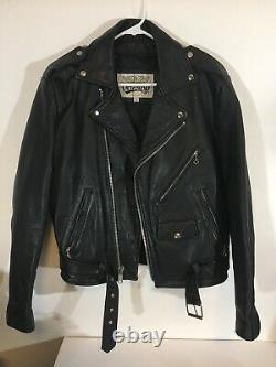 Open Road Men's 100% Genuine Leather Riding Jacket Size 36 YKK Zippers Heavy