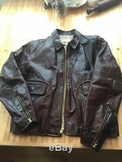 Orvis Vanson Horsehide Leather Jacket Mens Large