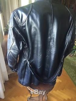 PANTHER Belstaff leather jacket size XL leather, Black SPECTACULAR
