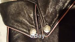 PLAYBOY LTD EDITION 50th ANNIVERSARY LEATHER JACKET WOMEN'S SWAROVSKI CRYSTALS