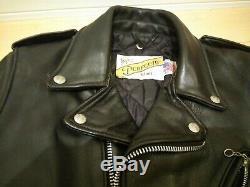 Perfecto 618 34 schott steerhide leather double motorcycle jacket racer 641