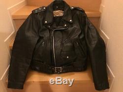 Perfecto schott 618 40 steerhide leather double motorcycle jacket racer 641