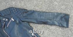 Philipp Plein Leather jacket Black Skull size 50 Biker Motorcycle