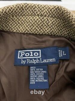 Polo Ralph Lauren Gents Large Blazer Jacket RRL 42 Herringbone Tweed Rugby Coat
