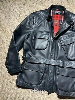 Polo Ralph Lauren Leather Motorcycle Coat Logan Trialmaster Moto Jacket XL