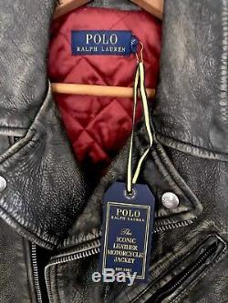 Polo Ralph Lauren The Iconic Leather Motorcycle Jacket. No Reserve