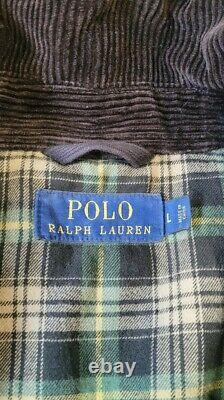 Polo Ralph Lauren The Iconic Waxed Moto Williamsburg Jacket Mens Large Rare
