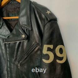 Pre-owned SCHOTT 618NS Triumph Anniversary edition biker leather jacket sz. 42
