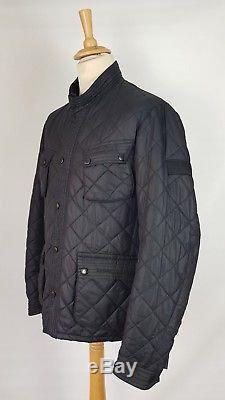 Q393 Barbour Black Limited Edition To Ki To Motor Cycling Quilt Jacket, XL / XXL