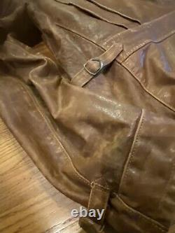 RALPH LAUREN POLO WILKINS DISTRESSED LEATHER Mens Moto Jacket Msrp $1795.00