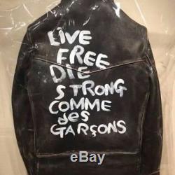 RARE COMME des GARCONS × Lewis Leather Men's Motorcycle Jacket Moto Jacket 38