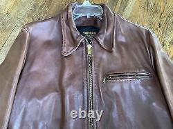 RARE! Mens 44 VANSON HORSEHIDE Leather Moto Jacket AERO STYLE Enfield 6 Lbs