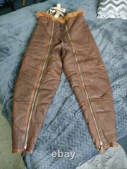 RARE WWII RAF IRVIN Sheepskin Flying Pilot Jacket Trousers 1940's never used