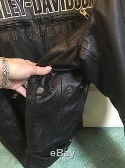 REDUCED! Harley Davidson Mens Horizon Leather Jacket 97192-14VM XL X Large