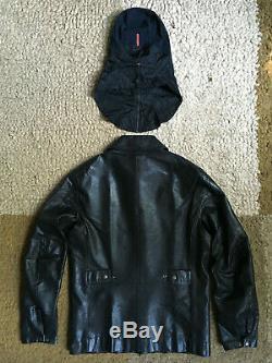 REDUCED! Rare Prada Mens Leather Biker/Scooter Jacket (+ unused balaclava)