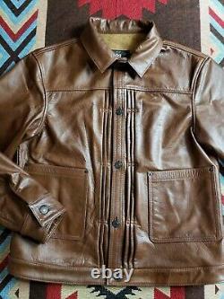 RRL Double RL Ralph Lauren Type II Leather Trucker Jacket