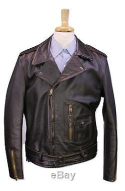 RRL x SCHOTT Limited 100 Leather Biker Moto Jacket Double RL Model 333 XL
