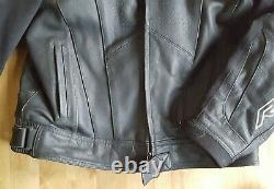 RST Blade Black Motorbike Motorcycle Leather Jacket Size UK 50, EU 60