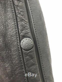 Rag & Bone Mens Black Leather & Shearling Biker Jacket Size 40 Reg $1495
