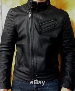 Ralph Lauren Black Label Mens Leather Motorcycle Jacket Grand Prix Size L $2,999