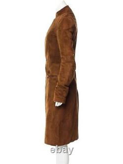 Ralph Lauren Collection Fall 2003 Purple Label Brown Suede Motorcycle Coat Small