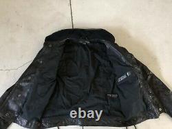 Ralph Lauren Leather Biker Jacket 8 Black Label RRL Moto VTG Polo Medium Lace