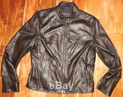 Ralph Lauren Men's Black Label Italian Lamb Leather Biker Jacket size L