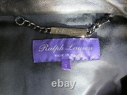 Ralph Lauren Purple Label $3495 Randall Lambskin Leather Biker Cafe Racer Jacket