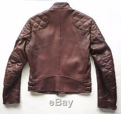 Ralph Lauren Purple Label Leather Cafe Racer Motorcycle Biker Jacket M Italy