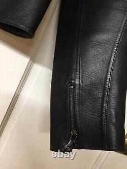 Ralph Lauren black label bonded lamb skin womens jacket size 10