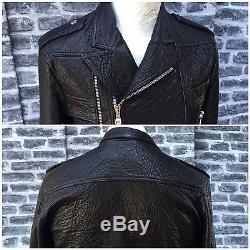 Rare & Great Balmain SS13 Lamb Double Zipper Leather Motorcycle Jacket