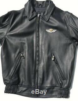 Rare Harley Davidson 100th Anniversary Leather Jacket Mens Medium Black
