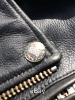 Rare Harley Davidson Road Hog Black Leather Jacket Men's XL